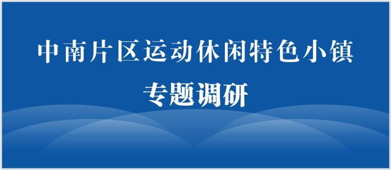 中南片区运动休闲特色小镇专题调研会,在长沙千龙湖召开!